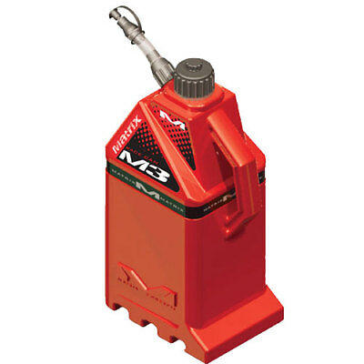 Matrix Concepts M3 Works 18L MX Motocross Fuel Can - Solid Red