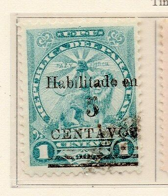 Paraguay 1907-08 Early Issue Fine Used 5c. Surcharged 169775