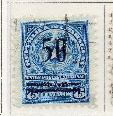 Paraguay 1920 Early Issue Fine Used 50. Optd Surcharged 169850