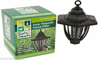 Solar Power Insect Killer Fly Bug Mosquito Zapper (291) Brand New For 2016