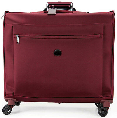 Delsey Montmartre Carry-On Spinner Trolley Garment Bag Luggage - Bordeaux