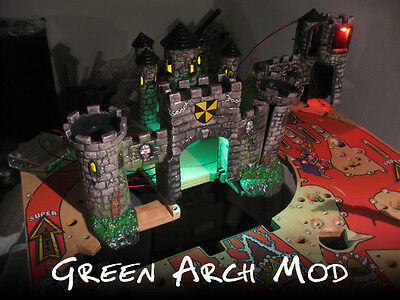 Medieval Madness Pinball Green Arch LED Mod   NEW