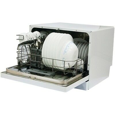 NEW Magic Chef Mcscd6w3 6-place Countertop Dishwasher