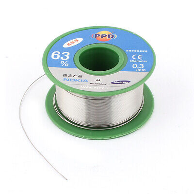 0.3mm Dia 63/37 Tin Lead Rosin Core Solder Flux Soldering Welding Iron Wire Reel