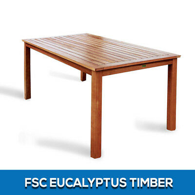 New Fsc Eucalyptus Timber Furniture  Outdoor Wooden Dining Table