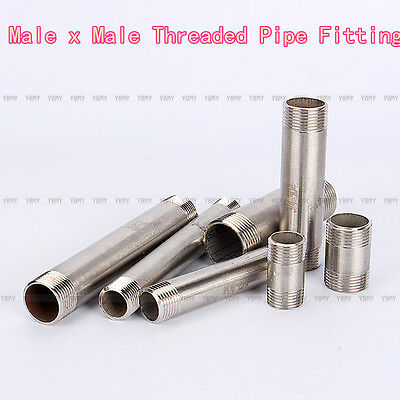 "1/2""-1"" Male Stainless Steel 304 Threaded Pipe Fittings 40mm/100mm/150mm NPT"