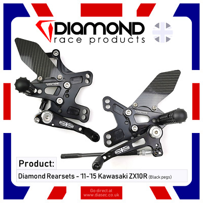 Diamond Race Products - Kawasaki Zx10R 2011-2019 11-19  Rearset Footrest Kit
