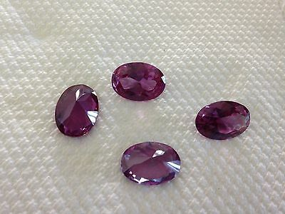 TWO PCS - HUGE GEMS!   13 X18 mm Simulated ALEXANDRITE OVAL CUT