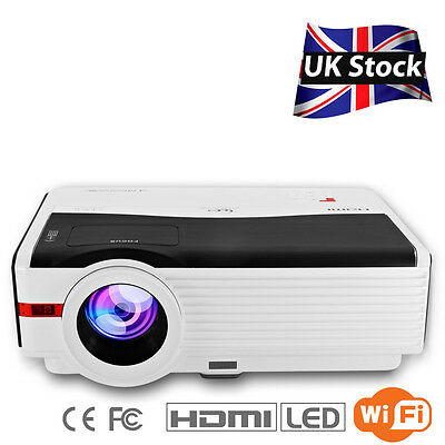 5000lm WiFi LED Home Cinéma Android Projecteur HD1080p HDMI USB Online Game Vido