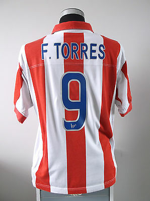 F. TORRES #9 Atletico Madrid Centenary Home Football Shirt Jersey 2003/04 (L)
