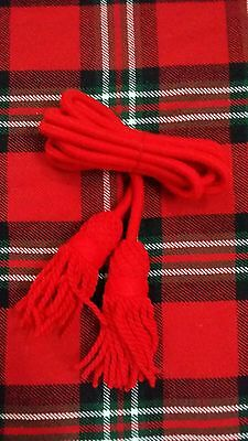 Tc British Army Bugle Wool Cord Red Color/bugle Wool Cord Red Colors/bugle Cord