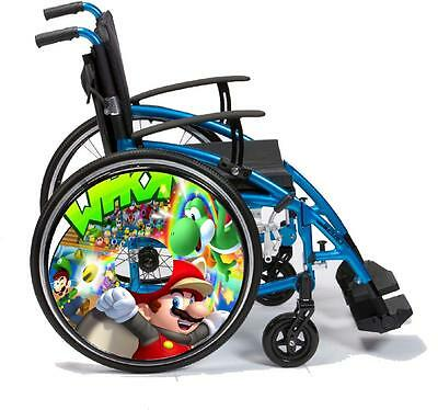 Wheelchair Spoke Guards VINYL SKINS Custom Designs Personalised for Kids & Adult