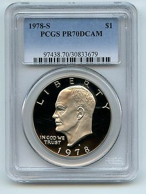 1978 S $1 Ike Eisenhower Dollar Proof PCGS PR70DCAM