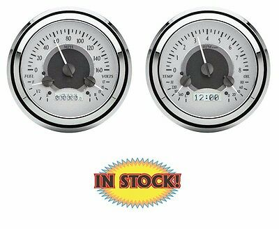 Dakota Digital 1947-53 Chevy & GMC Pickup VHX Gauges Silver/White VHX-47C-PU-S-W