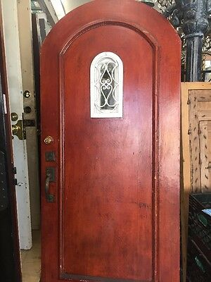 Arched Front door Spanish  With Iron Window Grid Speakeasy Old 1930's
