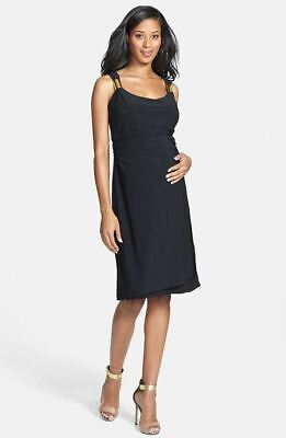 New Japanese Weekend Maternity Nursing Slider Strap Little Black Cocktail Dress