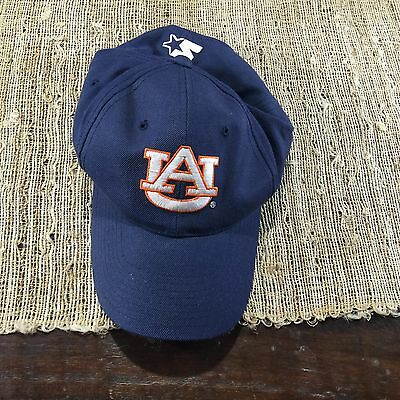 Adult Navy Auburn Tigers Baseball Hat Cap By Starter One Size Fits All NCAA
