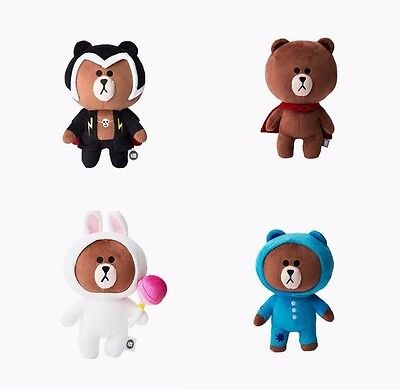 Line Friends Ranger Brown Character Rag Doll Mobile Game Thunder Coby Super Bear