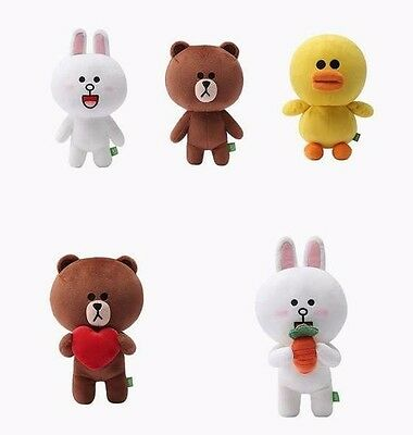 Line Friends Character Rag Doll Brown Cony Sally Heart Carrot Bear Rabbit Duck