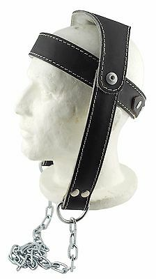 Athentic Senshi Japan Leather Head Harness Neck Harness Dipping Weight Lifting