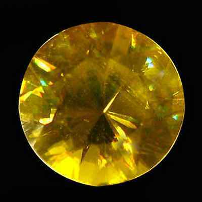 1.18 ct Natural Round-cut Flashing Yellow/Multicolor VVS Sphene (Pakistan)