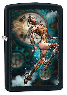 Zippo Windproof Lighter With Steampunk Aviator Girl, 28670, New In Box