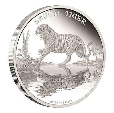 Niue 2015 $2 Endangered Species - Bengal Tiger 1 Oz Silver Proof Coin