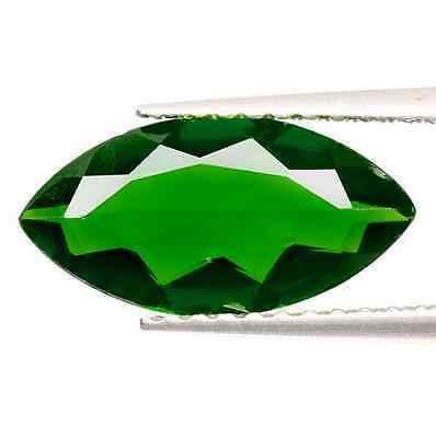 1.49 ct Natural Marquise-cut Chrome-Green IF Chrome Diopside (Russia)