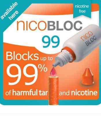NICOBLOC 99,15ml,Blocks harmful Tar & Nicotine,Quit Smoking,JANUARY 2017 SPECIAL