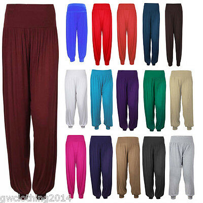 Ladies women's girls Ali Baba Harem Hareem Trousers Pants Leggings Costume Dress