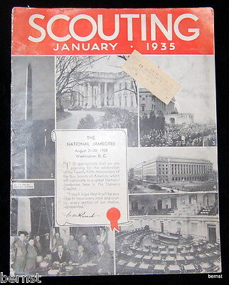 Vintage Boy Scout - 1935 Scouting Magazine - January