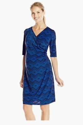 New Japanese Weekend Maternity and Nursing Luxe Jersey Side Sweep Shift Dress