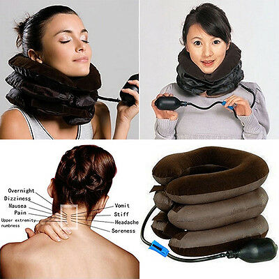 Useful Cervical Neck Traction Device Shoulder Pain Relax Brace Support Pillow
