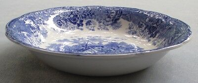 Wood & Sons Blue Country Scene Round Vegetable Serving Bowl