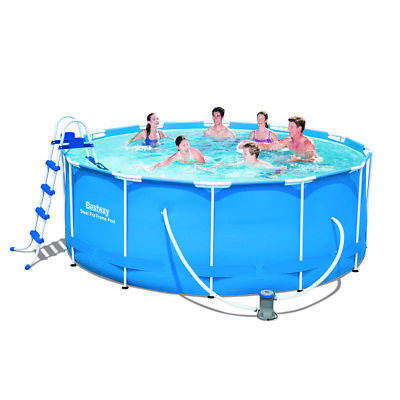 12ft Bestway Above Ground Frame Swimming Pool 366x122cm 56421