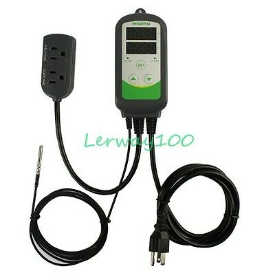 1000W 220V Digital Temperature Controller Thermostat Control w/ Probe ITC-308 US