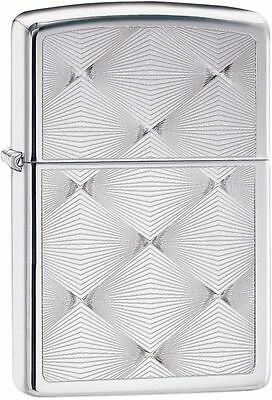 Zippo Windproof High Polished Chrome Deco Design Lighter, 28951, New In Box