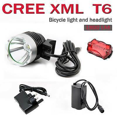 2000LM CREE XML T6 LED Front Bike Bicycle Light Headlamp Headlight Rechargeable