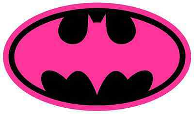 IRON ON TRANSFER ANY COLOUR TOP- HOT PINK BATMAN 17X10cm