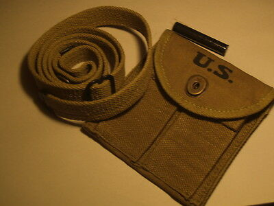 M1 CARBINE SLING, OILER AND BUTTSTOCK POUCH IN LIGHT OLIVE DRAB