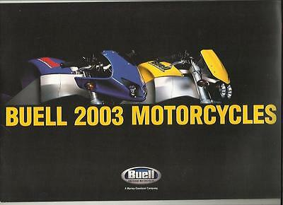 Buell Firebolt Xb9R And Lightening Xb9S  Sales Brochure 2003