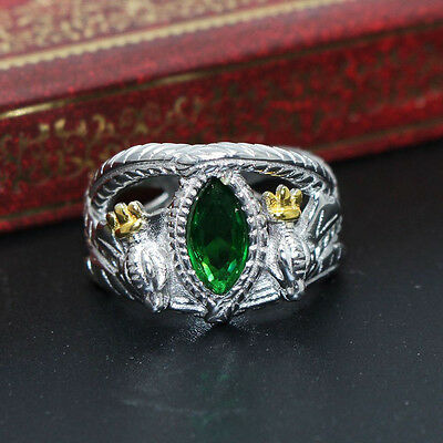 925 Sterling Silver Lord Of The Rings Jewelry Aragorn's Ring Of Barahir 8-13#