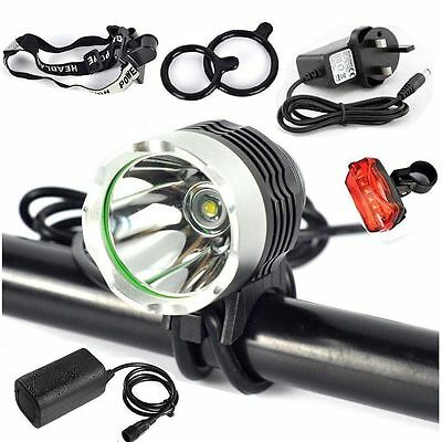 CREE 2000LM XML T6 LED Bike Cycle Bicycle Lights Headlamp Headlight Rechargeable