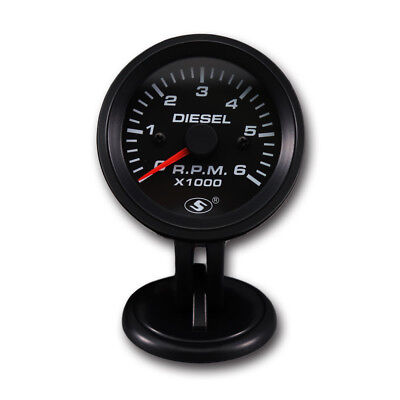 52mm 0-6000 RPM (On dash) Electrical Tachometer Gauge for Diesel