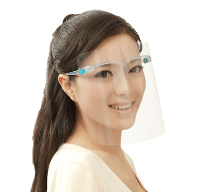 "Face Shield With Glasses, Anti Fog, Mask Safety Visor Protector ""USA SELLER"""