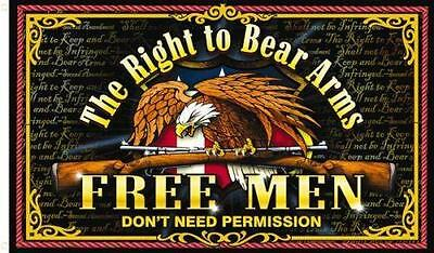 right to bear arms 3X5 FLAG eagle gun FL586 guns 2nd amendment free men hot new