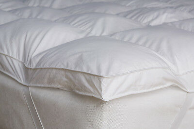 Goose & Down Feather Mattress Topper Single Double King Super King Pillow Pair
