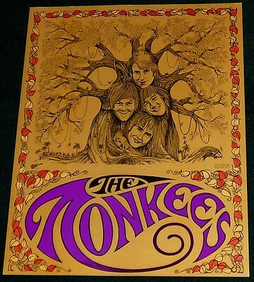 The Monkees Original 1967 Lithograph Poster Print Micky Dolenz Sparta