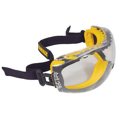 Dewalt DPG82-11C Concealer Clear Anti-Fog Safety Goggles 1 Pair Dual Mold