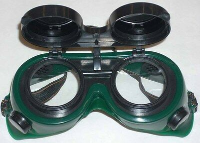 Green Welding Safety Goggles 50mm Round Flip Front Shade 5
